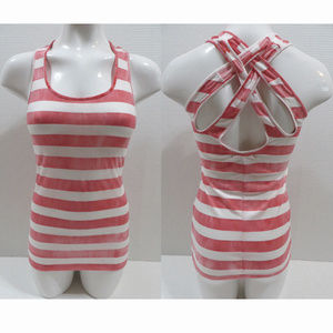 OP top Medium 7/9 multi-color striped strappy back